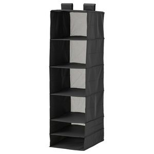 Organizer with 6 compartments, black